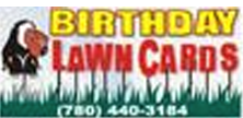 Birthday Lawn Card Rentals Logo